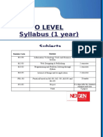 nexgen  o level syllabus