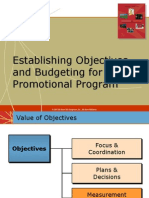 Establishing Objectives n Budgeting