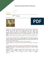 Cómo demostrar biblicamente que la Iglesia Católica es la Iglesia que Jesucristo Fundó