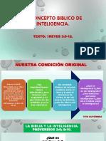 8-EL CONCEPTO BIBLICO DE INTELIGENCIA