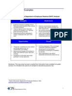SWOT Analysis Sample