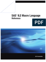 SAS 9.2 Macro Language - Reference