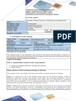Activity guide and evaluation rubric - Task 2 - Uncertainty environments and game theory