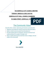 3-24-20 Kerrville City Council Meeting