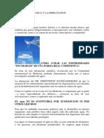 BENEFICIOS DEL AGUA Y LA HIDRATACION