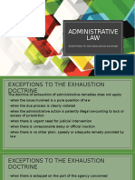 ADMINISTRATIVE LAW exhaustionv1