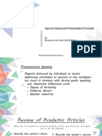 Typical Classroom Presentation Formats by Wulandari