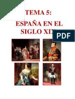 Esquema España s XIX