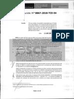 RESOLUCIÓN N°867-2018-TCE (APLICACIÓN DE SANCIÓN)