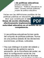 Definición de Politicas Ed Mancebo