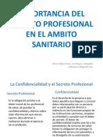 2. A. Vera, Importancia del secreto profesional