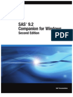 SAS 9.2 Companion for Windows, Second Edition