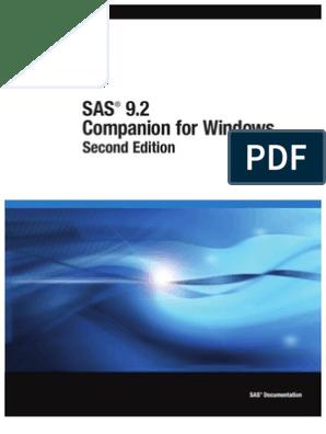 SAS 9 2 Companion for Windows, Second Edition   Sas