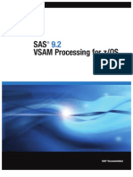 SAS 9.2 VSAM Processing for zOS