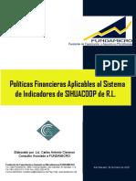 16. Políticas financieras aplicables al Sistema de Indicadores de SIHUACOOP de R.L