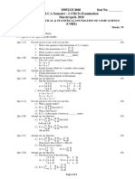 Mathematical & Statistical Foundation of Computer Science (CS-10)-March-April- 2018