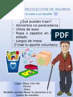 JORNADA DE RECOLECCIÓN DE INSUMOS