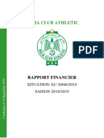 Rapport Financier Raja Club Athletic