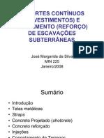 Escavações Subterrâneas - Revestimento e Tratamentos