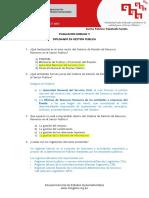 Evaluacion GP MODULO V - DIPLOMADO EN GESTION PUBLICA