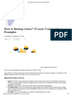 How to Backup Linux_ 15 rsync Command Examples