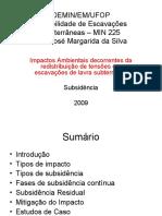 Escavações Subterrâneas - MIN 255