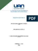 DESARROLLO DE GUIA #2 MAQUINAS ELECTRICAS