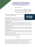 DECRETO 041 2020 - Decreta Situação de Emergência Em Saúde Pandemia COVID-19