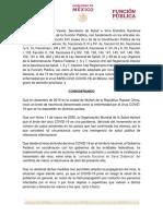 ACUERDO Suspensión de Labores No Indispendables en La Administración Pública Federal 2 (1)