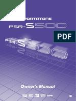 Yamaha PSR-S500 Manual