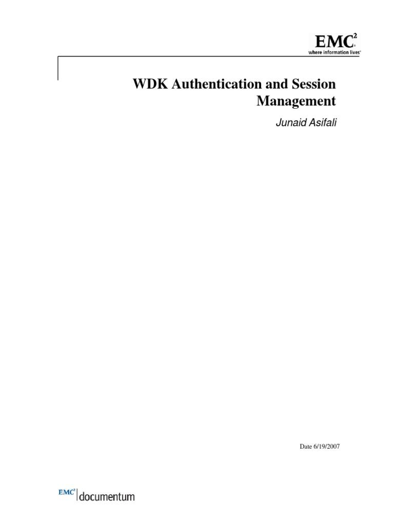 WDK Authentication Session Management   Hypertext Transfer