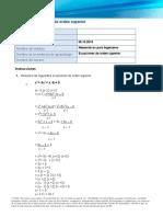 Ecuaciones orden superior 2.3