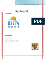 Internship Report on DIN News