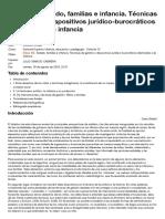 Clase XII. Estado, familias e infancia. Técnicas de gestión y dispositivos jurídico-burocráticos destinados a la infancia