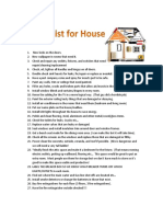 Repair List for House