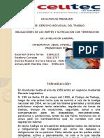 OBLIGACIONES DE LAS PARTES RELACION LABORAL