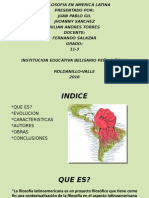 exposicion filosofia america latina