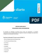 Reporte diario Nacional de pacientes con coronavirus