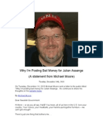 Why I'm Posting Bail for Julian Assange:  A Letter from Michael Moore