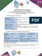 Guía de actividades y rúbrica de evaluación - Paso 3 - Diseño de actividades para el desarrollo del pensamiento
