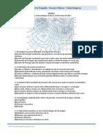 Exercícios de Exame Nacional Geografia Cartas Sinópticas Recursos Hídricos