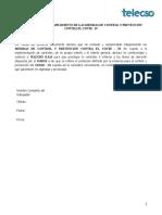 DECLARATORIA DE CUMPLIMIENTO DE LAS MEDIDAS DE CONTROL Y PREVENCIÓN CONTRA EL COVID¬ - 19 (2)