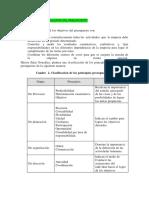 ELEMENTOS PRINCIPALES DEL PRESUPUESTO-