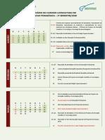Calendário Acadêmico 1º Semestre  2020 - FORM. PED
