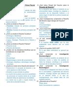 Cuestionario Filosofía del D. - Primer Parcial