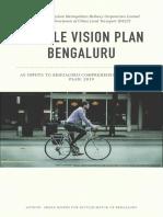 Bicycle Vision Plan, Bengaluru