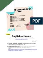 English at home,  6 grade