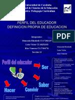 perfil de egreso educador