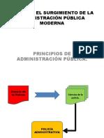 BONNIN Y EL SURGIMIENTO DE LA ADMINISTRACIÓN PÚBLICA