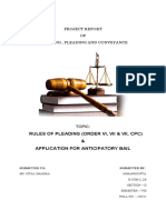 APPLICATION FOR ANTICIPATORY BAIL